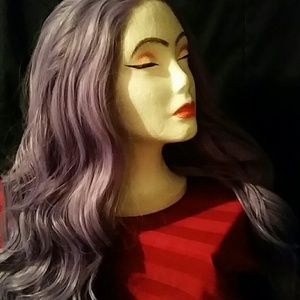 Accessories - Purple wavy synthetic lace wig 💜❣